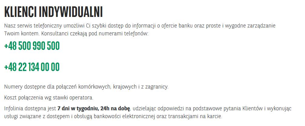 numery telefonów na infolinię bnp paribas